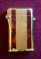 VINTAGE ART DECO THORENS  GOLD  PLATED & ENAMEL DOUBLE CLAW AUTOMATIC LIGHTER !!