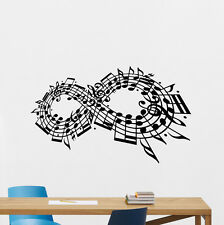 Musical Notes Wall Decal Music Studio Vinyl Sticker Art Decor Home Poster 93hor