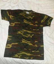 Militare Da Uomo T-shirt di grandi dimensioni dell'Esercito Britannico Mimetico Woodland Caccia pesca gioco