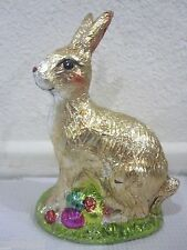 Easter Faux Classic Chocolate Bunny Rabbit with Egg Decoration Decor 5 1/2""