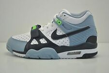 Boys Nike Air Trainer 3 (GS) Shoes Size 6.5Y White Navy Blue Grey 344950 144