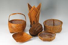 Japanese Bamboo Basket Set 6pc for Lamp Shade Flower Display Gardening 570k40