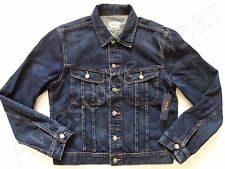 New Ralph Lauren Polo 100% Cotton Classic Dark Blue Denim Trucker Jeans Jacket L