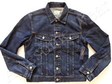 New Ralph Lauren Polo Cotton Classic Dark Blue Denim Trucker Jeans Jacket XXL