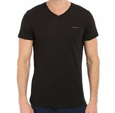 Diesel Men's V-Neck 100% Cotton T-Shirt - Medium