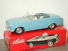 Peugeot 403 Cabriolet van Solido 108 France 1:43 in Box *26493