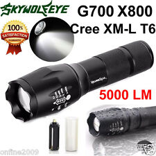 G700 X800 5000LM Flashlight CREE XM-L T6 LED Military ShadowHawk Torch  A
