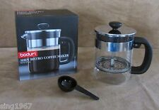 Bodum Shin Bistro French Press Coffee Maker 4 Cups CoffeeTea small single