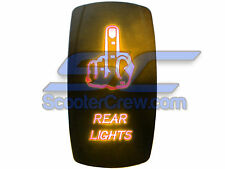 UTV Rocker Switch Orange Led On Off Rear Lights Toggle Square 5 tab Dune Sand RV