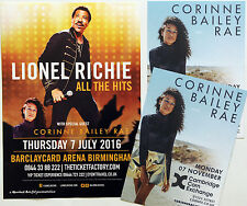 3 X CORINNE BAILEY RAE 2016 TOUR FLYERS - LIONEL RICHIE