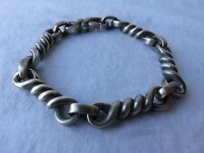 David Yurman Men's .925 Sterling Silver Cable Twisted Link Matte Bracelet $895