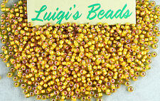 11/0 Round Toho Japan Glass Seed Beads #302-Jonquil/Apricot 15g