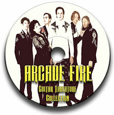 ARCADE FIRE INDIE ROCK GUITAR TABS TABLATURE SONG BOOK TUITION SOFTWARE CD