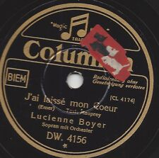 Lucienne Boyer singt Chansons : J'ai laissé mon Coeur / Parle-moi d'autre chose