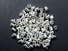 15 coppie Ferma orecchini  cilindro 5x6mm monachelle color argento  nickel free