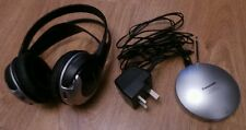 Rare Vintage Panasonic RP-WF910 Over ear Wireless RF Stereo Headphones - Black