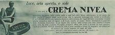 W6337 Crema NIVEA - Pubblicità 1929 - Advertising