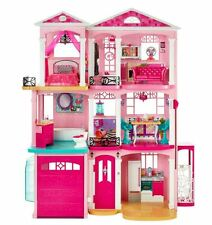 Barbie Dream House With Elevator 3 Story Toys Girls Age 6 Home Garage Doll Play