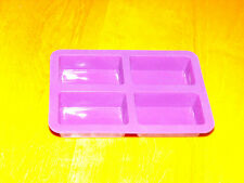Silicone Chocolate Candy Candle Soap Crayon Ice Mold Baking Mould - 4x Rectangle