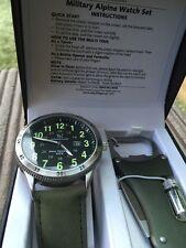 Alpine Army Glow in Dark Watch Set from Tavistock & Jones. BNIB