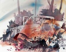 """OUT TO PASTURE""  original watercolor by American artist Micheal Jones"