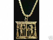 LOOK Gold Plated Egypt Egyptian Silver Pendant charm jewelry