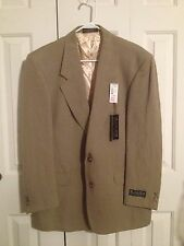 Excellent Mens  42L Lycos George Mackado Blazer Jacket Tan  WITH TAGS