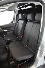 Ford Transit Connect 2014+ Tailored Waterproof Front Triple 3 Black Seat Covers