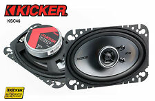 "Kicker KS Series KSC46 4X6"" 4-Ohm 75 Watt Rms Coaxial Speaker Direct Fit"