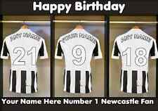 A5 Personalised Newcastle Football Dressing Room Greeting Birthday Card PID055