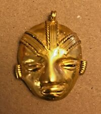 C) COLOMBIA, WARRIOR FACE, TUMBAGA DETAILS ABOUT COPPER AND GOLD ALLOY