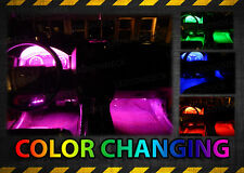 NEW! 4pc Multi Color LED INTERIOR LIGHT KIT for ALL CARS w ACCENT NEON GLOW