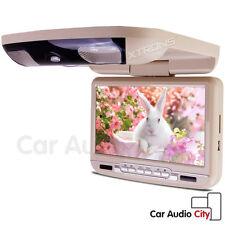 "9"" Beige HD Swivel Car Roof Ceiling mounted flip down Screen Monitor DVD Player"