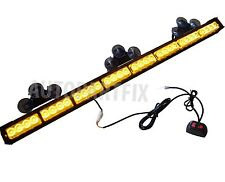 35 inch LED Amber Yellow Light Emergency Warning Strobe Flashing Bar Hazard