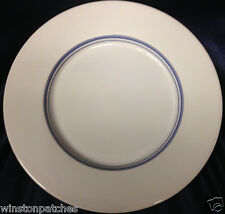 "ROYAL DOULTON TERENCE CONRAN CHOPHOUSE LUNCHEON PLATE 9.5"" WHITE WITH BLUE BANDS"