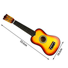 "21"" Wooden Beginners Practice Acoustic Guitar w/ 6 String For Children Kids New"