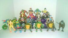Large Lot of Vintage TMNT Teenage Mutant Ninja Turtles Figures & Meta bike