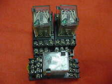 (Lot of 3) Omron MY4N-D2 Relay Switches 24VDC w.Bases 250VAC Free Shipping