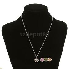 Stainless Steel Pendant Chain Necklace Replacement Zircon Women Girl Jewelry