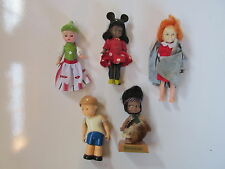 Lot of 5 - VINTAGE SMALL DOLLS - Toys - Figures