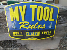 MY TOOL RULES  Metal Vintage Style Signs Garage Man Cave car Gas Pump station