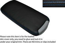 BLUE STITCH LEATHER ARMREST LID SKIN COVER FITS LEXUS IS200 IS220 IS250 06-12