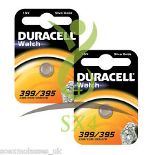 2 x DURACELL 395 399 D395 SR927SW SR57 V395 1.5v WATCH BATTERY SILVER OXIDE