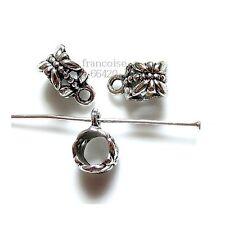 5 Bélières attache breloque 11.5x6.5x8mm Apprêts création bijoux bracelet _ A190