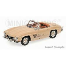 MINICHAMPS 1957 MERCEDES 300SL (W198) CABRIOLET LIGHT BROWN 1:18*Last One!