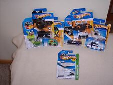 HOT WHEELS - 7 CAR LOT-BAT MAN- JETSONS -GHOSTBUSTERS- KNIGHT RIDER- MORE- NEW