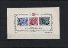 Polen Polska 1949 Block 11 postfrisch ** MNH Souvenir Sheet