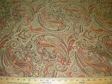 """~14 3/8 YDS~""""PAISLEY""""FLOWERS  ELEGANT EMBROIDERED UPHOLSTERY FABRIC FOR LESS"""
