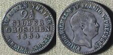 Germany States : Prussia 1854A  2 1/2 Groschen  VF-XF  Some Dirt #463  IR5368