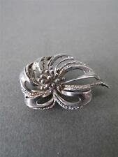 Vintage argent massif filigrane brooch pin
